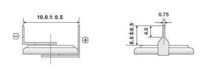 Размеры батарейки EEMB CR1225-VBY2