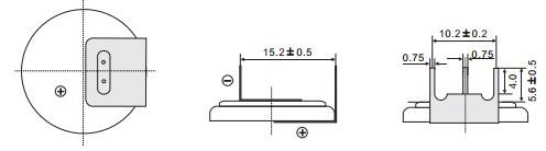 Размеры батарейки EEMB CR2032-VAY3