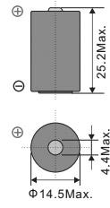 Размеры батарейки EEMB ER14250