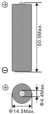 Размеры батарейки EEMB ER14505