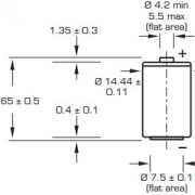 Размеры батарейки Saft LS14250