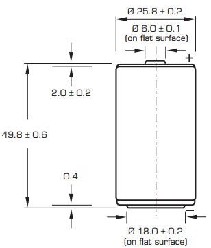 Размеры батарейки Saft LS26500