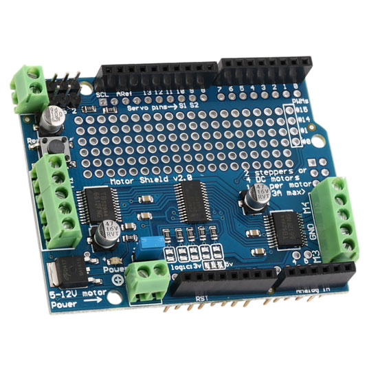 Плата расширения Adafruit Motor/Stepper/Servo Shield для Arduino v2.0