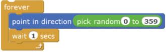 Блоки программы mBlock (Scratch)