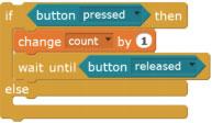 Подсчёт нажатий кнопки