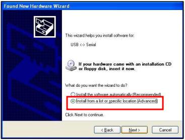 Установка драйвера USB2Dynamixel