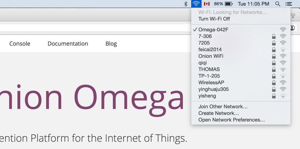 Під'єднайтесь до точки доступу Omega