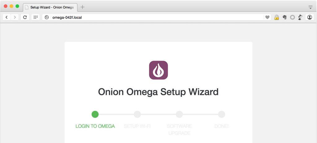 Слідуйте за майстром для завершення налаштування Omega