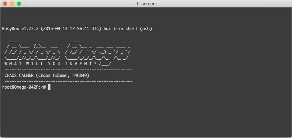 службова програма screen
