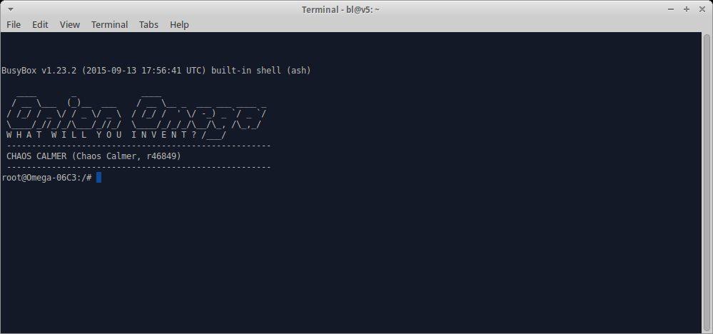 Крок 6: Запустіть sudo screen /dev/ttyUSB0 115200 щоб з'єднатись з терміналом Omega.