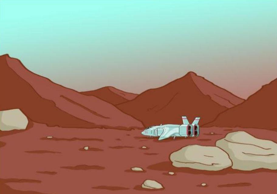 Пригоди Марка на Марсі, глава 8 - початок