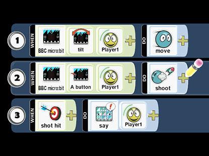 Microbit + kodu - Ігри для кількох гравців