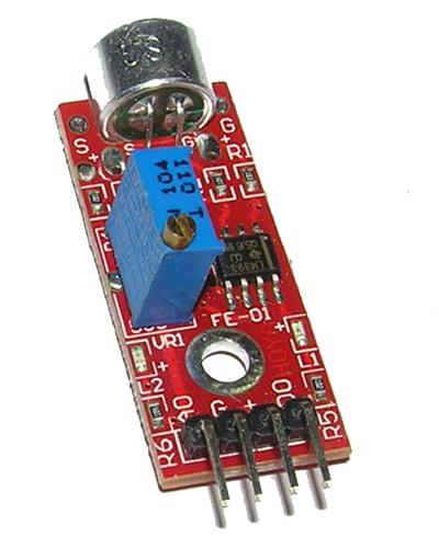 Модуль высокочувствительный микрофон с операционным усилителем KY-037