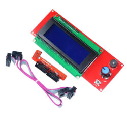 Модуль дисплея 20*4 с кабелями и адаптером к RAMPS shield