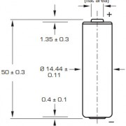 Размеры батарейки Saft LS14500