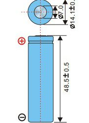 Аккумулятор EEMB LIR14500-FT-A07974