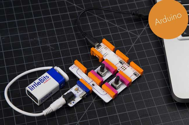 Схема до проекту littleBits: ping-pong