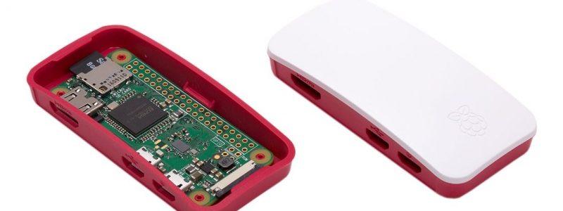 Official Raspberry Pi Zero / Zero Wireless Red & White Case