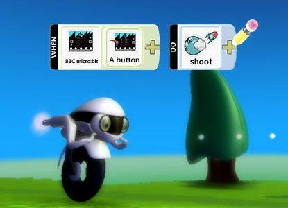 micro:bit та kodu - Постріли снарядами