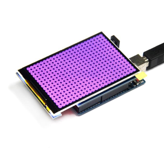 "Дисплей для Arduino UNO / Mega 2560 3.2"" 320х480 TFT LCD с тач-скрином"
