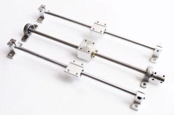 Комплект направляющих Ф8 мм и ходового винта, 300 мм для одной оси