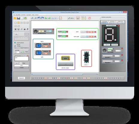 Arduino IO Simulator Drag, Drop & Dr