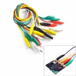 """Комплект кабелів із затискачами """"крокодил"""" (5 шт)"""